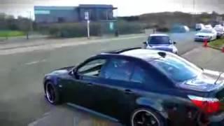 Epic BMW M5 E60 drift!   استعراض تفحيط سيارات بي ام دبليو