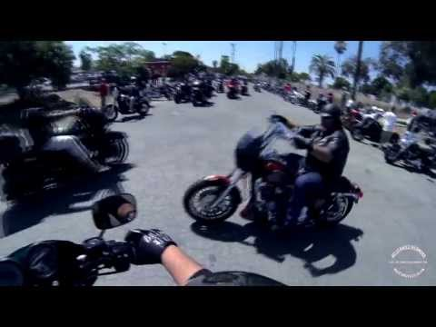 ROLLIN with the HELLS ANGELS MC Richmond Ca Poker Run 2013