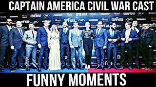 Captain America Civil War Cast : Funny Moments Part 3