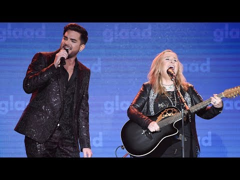 Melissa Etheridge and Adam Lambert perform I m The Only One 29th Annual GLAAD Media Awards