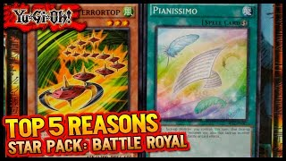 "YUGIOH - Top 5 Reasons to get Star Pack Battle Royal | ""Nice Splashable Cards, Bro!"