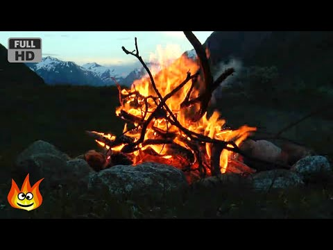 Xxx Mp4 Crackling Mountain Campfire With Relaxing River Wind And Fire Sounds HD 3gp Sex