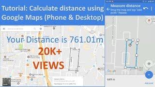 How to measure distance on Google Maps (Phone & Desktop Tutorial)