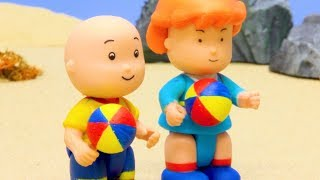 Funny Animated cartoons Kids | BEACH BALL | WATCH ONLINE | Caillou Stop Motion | cartoon movie