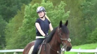 My first time ever riding a big horse!