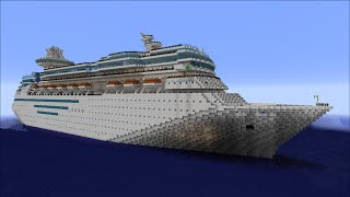 Majesty of the Seas - Minecraft Cruise Ship Tour (With Download)