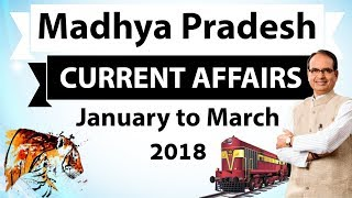 Madhya Pradesh Current Affairs January to March 2018 for MPPSC, Vyapam, Patwari, MPSI, MP TET exams