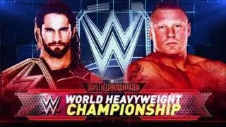Brock Lesnar vs Seth Rollins l Battleground 2015 l Combates WWE
