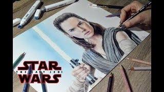 Drawing Rey (Daisy Ridley) | Star Wars: The Last Jedi