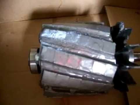 Prądnica z silnika od pralki 3 w 1 cz.2 GS