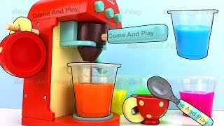 Coffee Maker Machine Kitchen Toy Appliance Slime Surprise Toys Come and Play Fun for Kids
