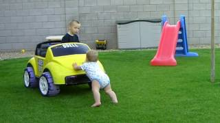 Funny kids enjoying with car baby comedy child comedy