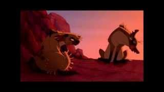 The Lion King - Hyenas Chase Simba