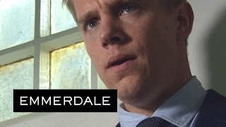Emmerdale - Rebecca And Robert Try To Break Lachlan Out Of Court