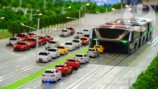 Bus that moves above traffic jams unveiled in China