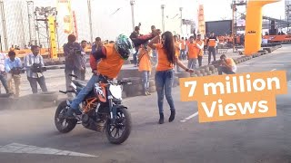 KTM orange day stunt show- february 2016 hyderabad
