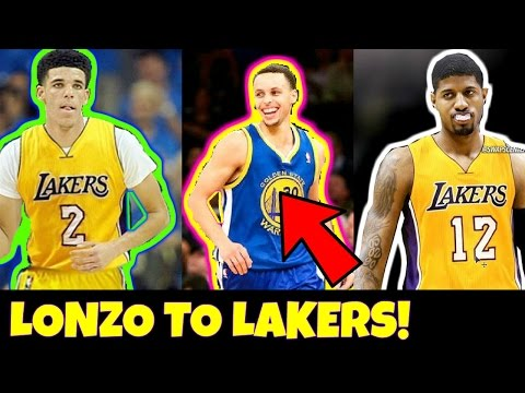 Why Lonzo Ball and Paul George WILL TEAM UP on the Lakers Lakers FINALLY defeat Steph Curry
