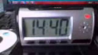 Micro câmera rádio relógio com DVR embutido .