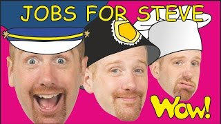 Jobs for Steve and Maggie + Hide and Seek | English Stories for Kids | Wow English TV
