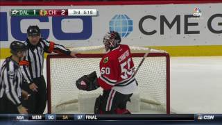 Announcers go wild as Crawford makes spectacular save on Shore