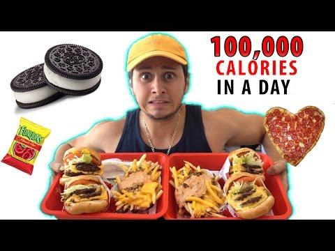 100,000 CALORIES in a DAY Challenge! (WARNING VOMIT)