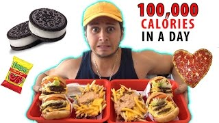 100,000 CALORIES in a DAY Challenge! (WARNING VOMIT)