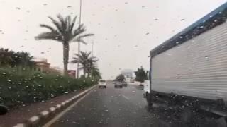 امطار غزيرة على منطقة جدة اليوم الخميس 1438/.8/.1