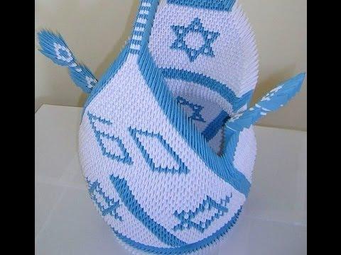 3D origami huge Swan for israel celebrating 60 years 2008