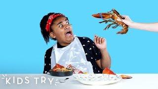 Kids Try Shellfish from Around the World | Kids Try | HiHo Kids