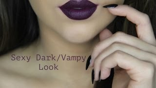 How To: Apply Dark Vampy Lipstick
