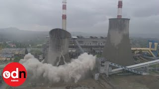 Cooling tower demolished in Poland