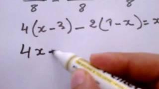 حل معادلات من الدرجة الاولى  resoudre equation