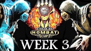 MKX: Kombat Cup - Week 3 - Full Tournament! [TOP16 Ft. SonicFox, Scar, Dragon, Tweedy etc]