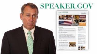 Boehner Introduces New Speaker.gov