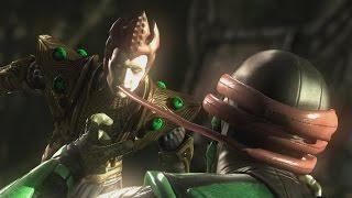 Mortal Kombat X - Shinnok/Reptile Mesh Swap Intro, X Ray, Victory Pose, Fatalities and Brutality
