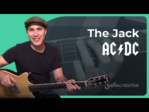 The Jack - AC/DC - Rock Guitar Lesson (ST-336) Angus, Malcolm
