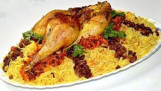 أبهري ضيوفك بوجبة غداء راااقية الرز البخاري بالدجاج لذيذ جدااااا