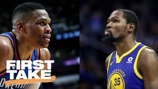 First Take debates Kevin Durant or Russell Westbrook in Warriors vs. Thunder | First Take | ESPN