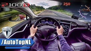 Tesla Model S P100D LUDICROUS AUTOBAHN POV TOP SPEED & ACCELERATION by AutoTopNL