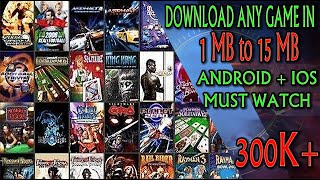 How to Download Any Android/IOS Highly Compressed Games in 1 MB 2017 by DR.HAMZA