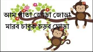 Ampata Jora Jora । Aam Pata Jora Jora । আম পাতা জোড়া জোড়া । Bengali Nursery Rhyme । বাংলা শিশু ছড়া