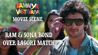 Ram & Sona Bond Over Lagori Match - Ramaiya Vastavaiya Scene - Girish & Shruti