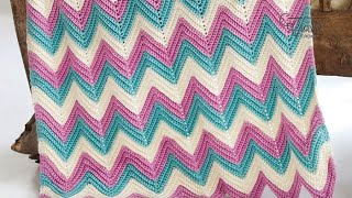 Crochet Chevron or Ripples in Any Size