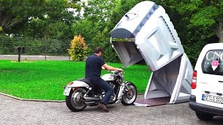 تكنولجيا جديدة فى جراج الدرجات النارية والسيارات !تعرف عليها