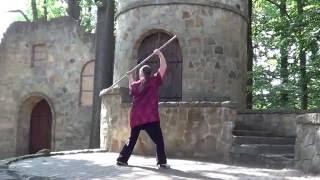 Tai Chi Shaolin Stick Form en Zhu Dao Bamboo Chi Kung