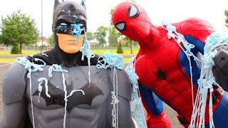 Kids Surprise Toy Hunt Challenge Batman Hides Spider-man Homecoming At Playground Park Toy Review