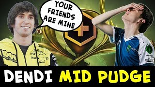 Dendi MID Pudge — with Miracle pub friends on Battle Cup