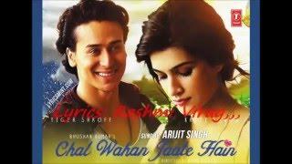 Chal Wahan Jaate Hain, Arijit Singh, Orginal Karaoke With Lyrics,,