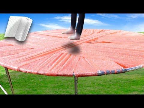 Bubble Wrap Trampoline Will it hold