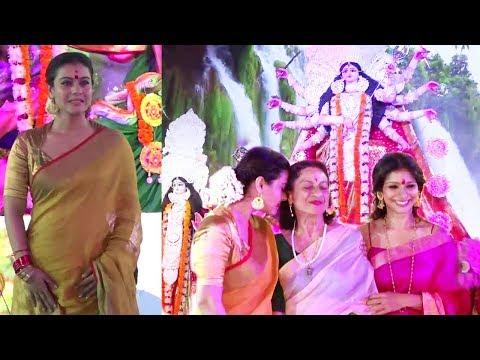 Xxx Mp4 Kajol With Family At Durga Puja 2017 Full HD Video 3gp Sex